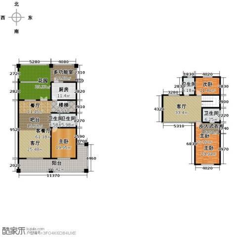 绿地・内森庄园3室2厅3卫0厨274.00㎡户型图