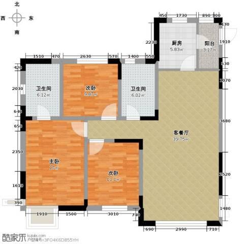 益田枫露3室2厅2卫0厨111.69㎡户型图