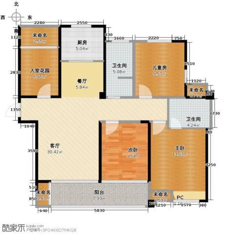 圣联香御公馆3室2厅2卫0厨125.00㎡户型图