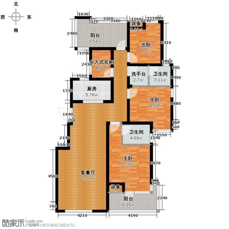 融侨天骏3.00㎡花园洋房3F+露台花园户型3室1厅2卫1厨