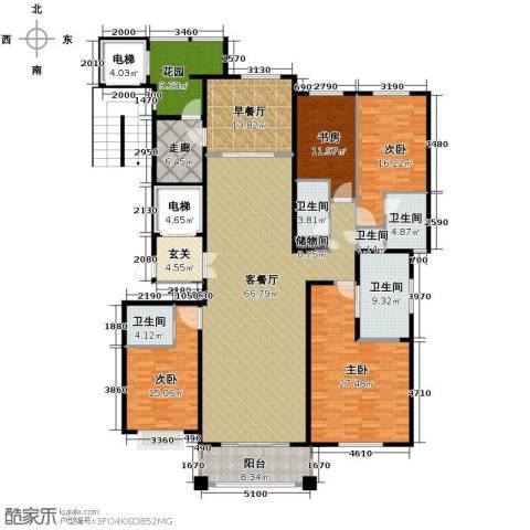 绿地・内森庄园4室2厅4卫0厨252.00㎡户型图