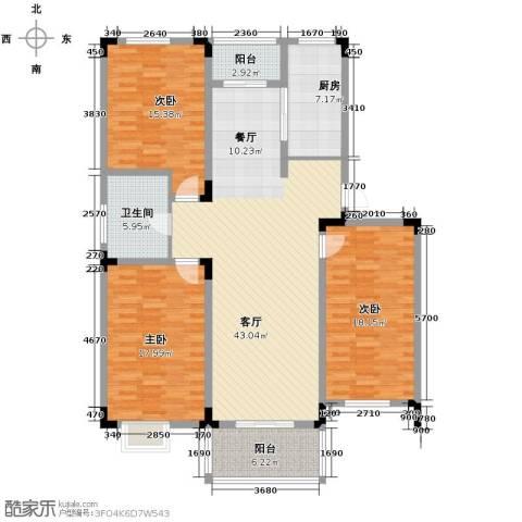 和一花园3室1厅1卫1厨116.81㎡户型图