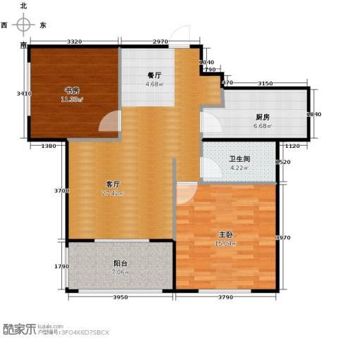 城改蜀湖湾2室2厅1卫0厨86.00㎡户型图