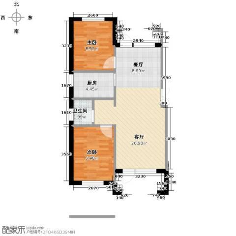 大唐东方盛世2室2厅1卫0厨91.00㎡户型图