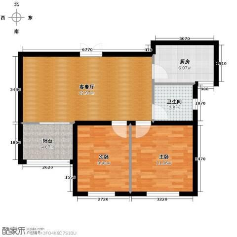 城改蜀湖湾2室2厅1卫0厨87.00㎡户型图