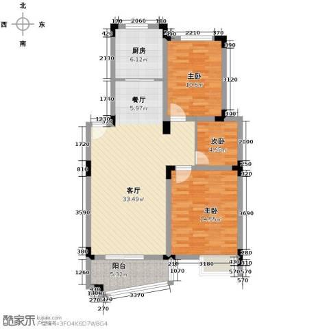 和一花园3室1厅0卫1厨86.00㎡户型图