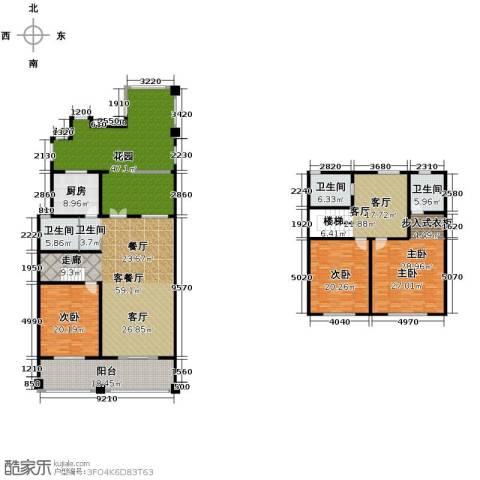 绿地・内森庄园3室2厅3卫0厨246.00㎡户型图