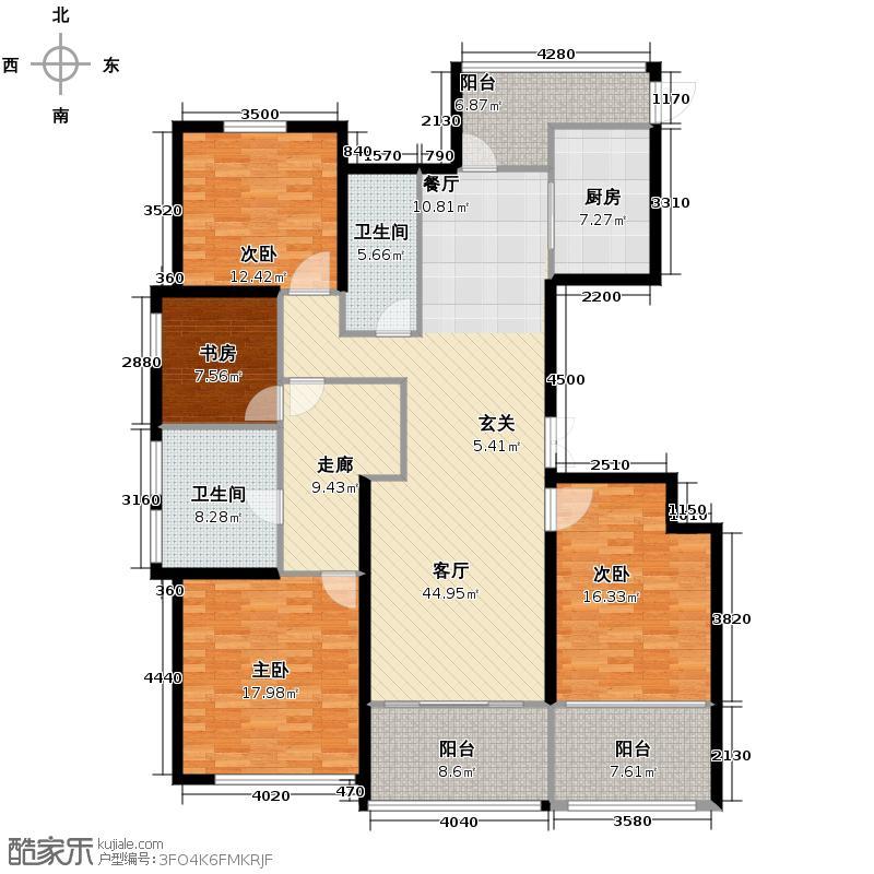 绿城明月江南184.00㎡B-2户型4室2厅2卫