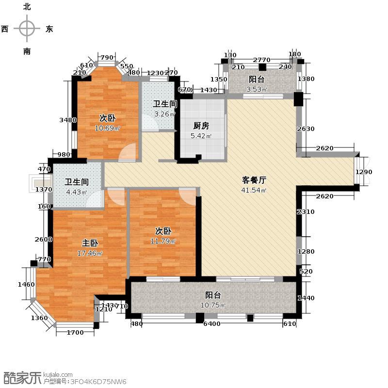 三盛托斯卡纳123.44㎡户型10室