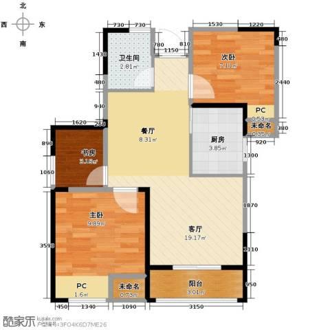 圣联香御公馆3室2厅1卫0厨78.00㎡户型图