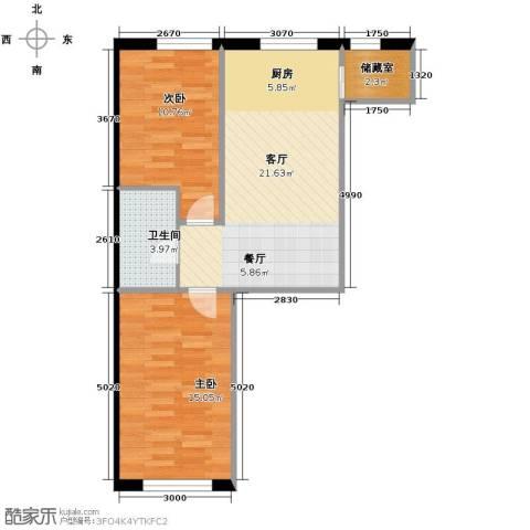 博达英郡2室1厅1卫0厨74.00㎡户型图