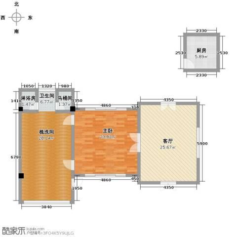 七仙瑶池1室1厅1卫0厨96.00㎡户型图