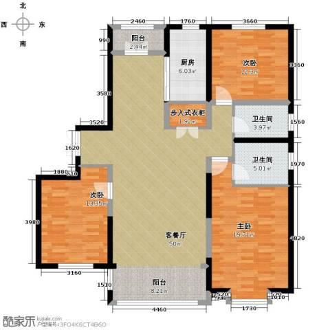 龙鸿怡家2室1厅2卫0厨162.00㎡户型图