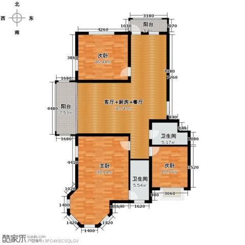 松浦观江国际4室2厅2卫0厨126.46㎡户型图