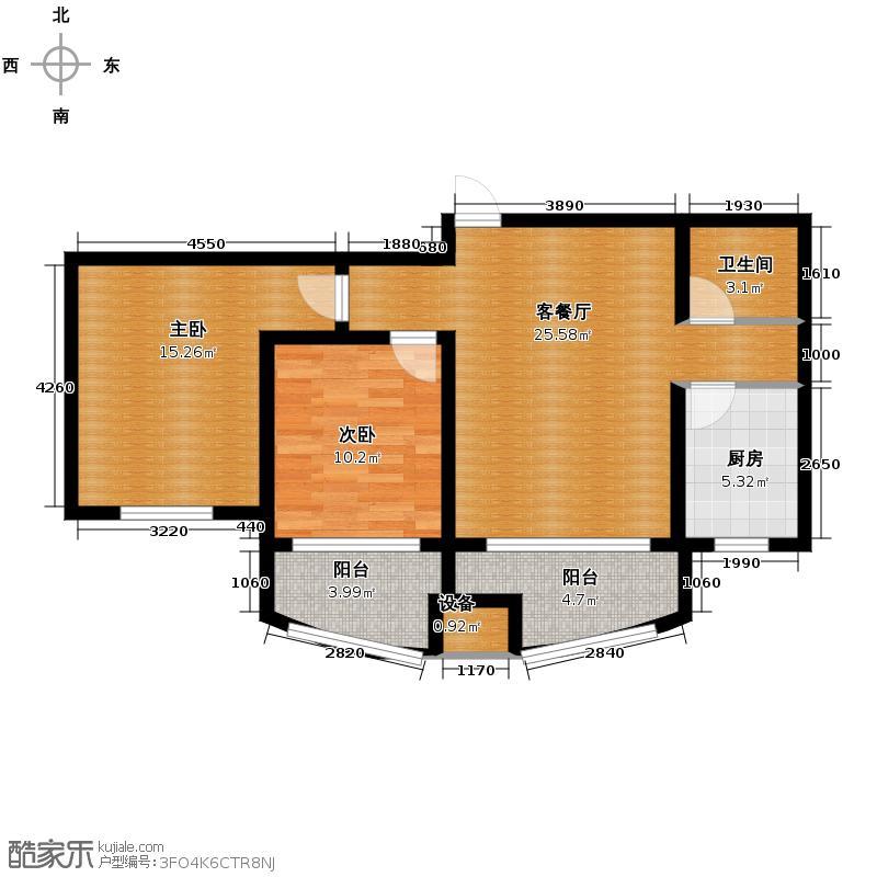 城市之星119.93㎡z4-1户型3室2厅1卫