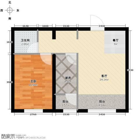 金昌国际1室1厅1卫0厨60.00㎡户型图