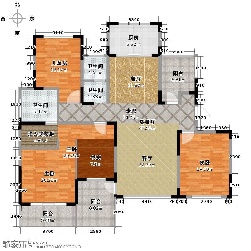 天下锦城160.00㎡爱丁堡B3户型3室2厅2卫