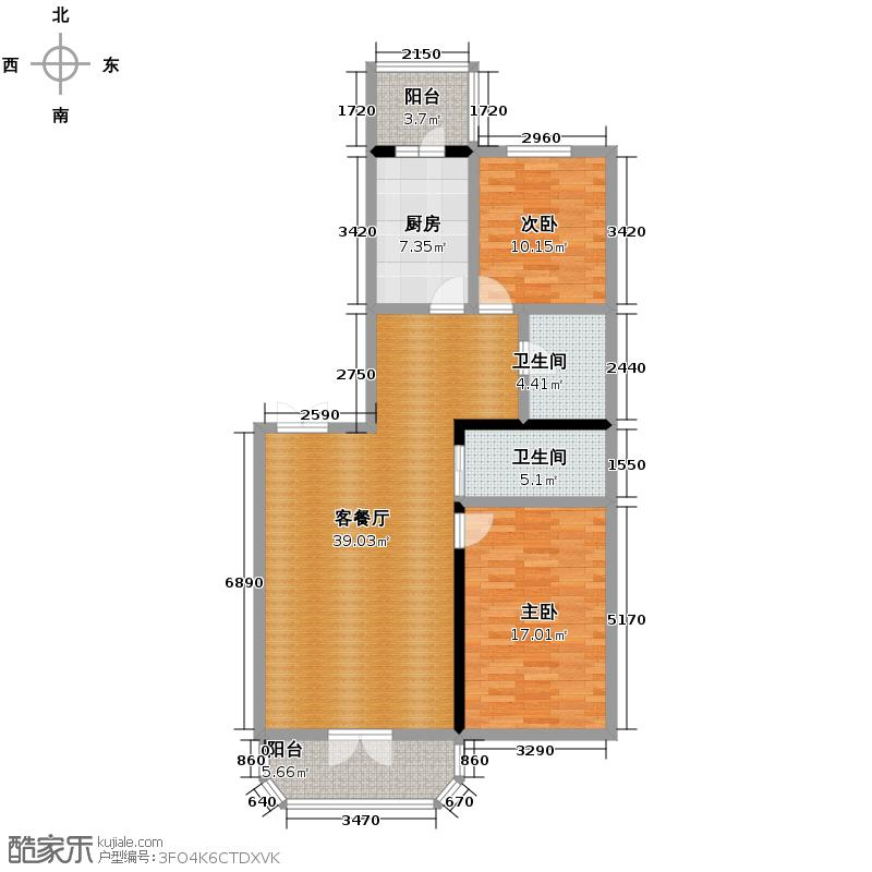 美域江岛105.91㎡户型10室