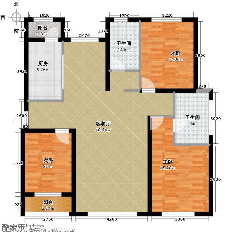 新里海德公馆148.00㎡9号楼户型3室2厅2卫