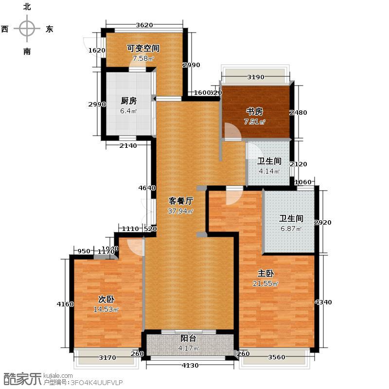 裕丰青鸟香石公寓139.26㎡北区A2户型3室1厅2卫1厨