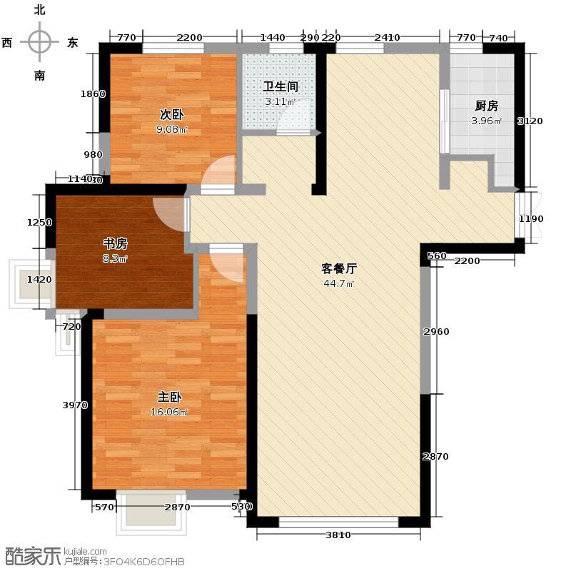 丰大国际112.00㎡A户型3室2厅1卫