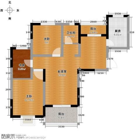 康城静林湾3室0厅1卫1厨108.00㎡户型图