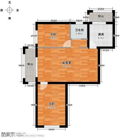 永安城2室0厅1卫1厨93.00㎡户型图
