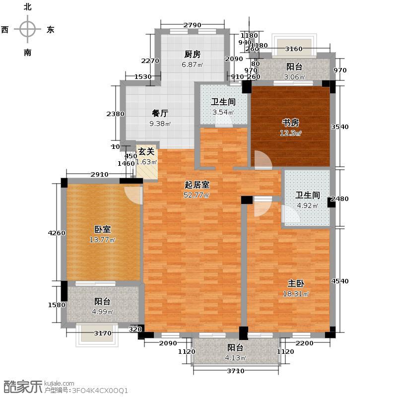戈雅公寓132.74㎡户型2室2卫
