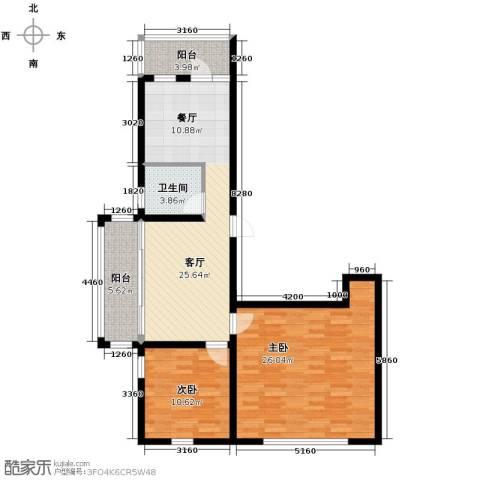 绿色新城二期嘉苑2室1厅1卫0厨121.00㎡户型图
