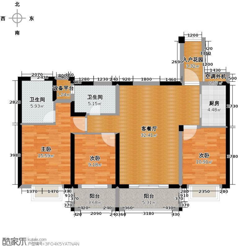 罗源湾滨海新城112.37㎡户型10室