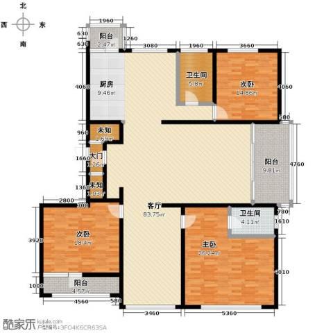 绿色新城二期嘉苑4室1厅2卫0厨222.00㎡户型图