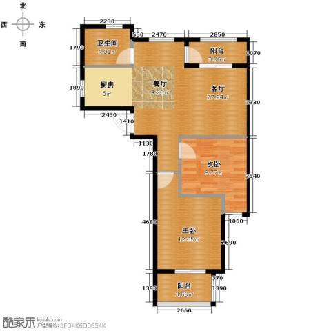 南美假日2室2厅1卫0厨80.00㎡户型图