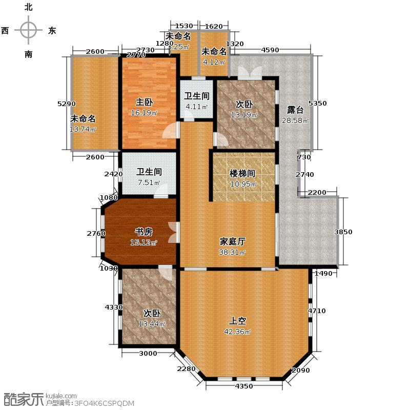 恒祥御景219.49㎡双拼别墅二层户型10室