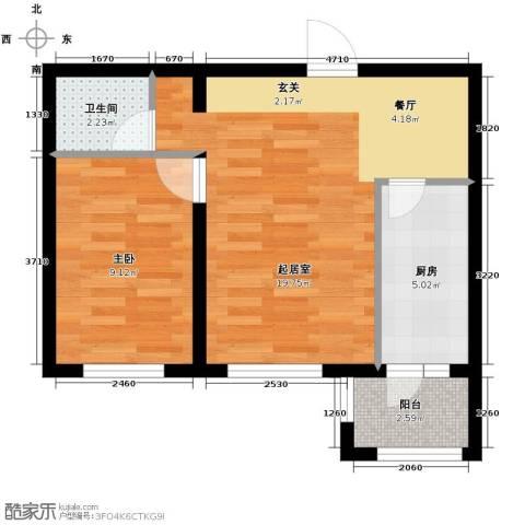 永安城1室0厅1卫1厨56.00㎡户型图