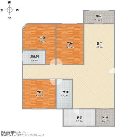 城投世纪名城3室1厅2卫1厨198.00㎡户型图