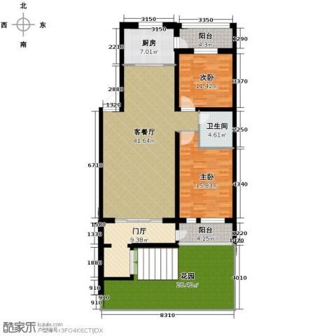 盛世香湾2室2厅1卫0厨180.00㎡户型图