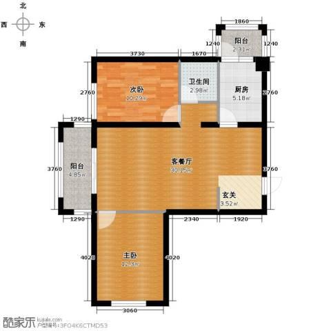 永安城2室1厅1卫1厨97.00㎡户型图
