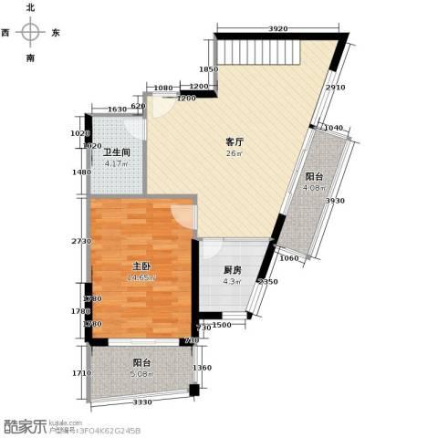 秋涛雅苑1室1厅1卫1厨180.00㎡户型图