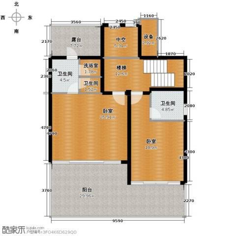 中信・香水湾2室1厅2卫0厨115.98㎡户型图