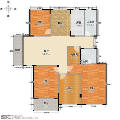 锦江南苑4室1厅2卫0厨196.00㎡户型图