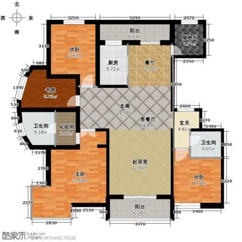 盛世香湾4室2厅2卫0厨210.00㎡户型图
