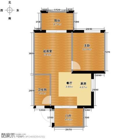 南美假日1室2厅1卫0厨63.00㎡户型图