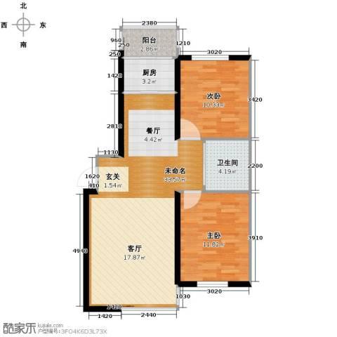 新星宇和邑2室2厅1卫0厨95.00㎡户型图