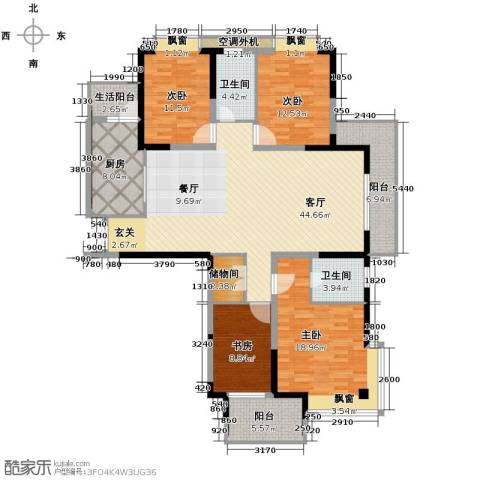 梦琴湾4室1厅2卫1厨149.08㎡户型图