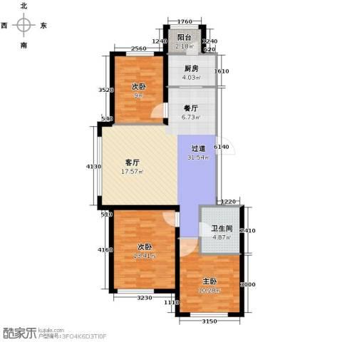 嘉惠红山郡3室2厅1卫0厨102.00㎡户型图