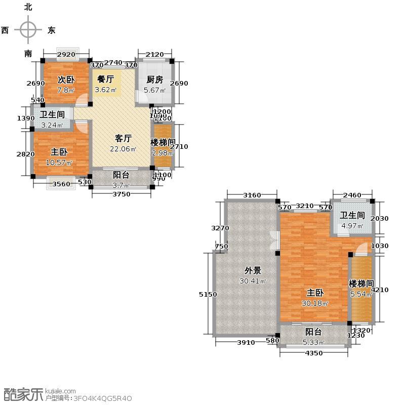 富豪新岸149.48㎡L户型3室1厅2卫1厨