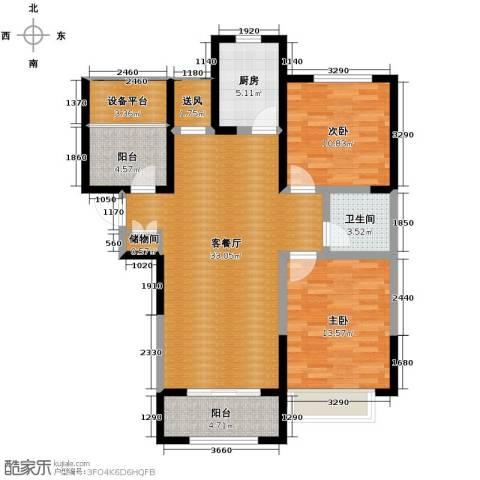 华地润园2室2厅1卫0厨106.00㎡户型图