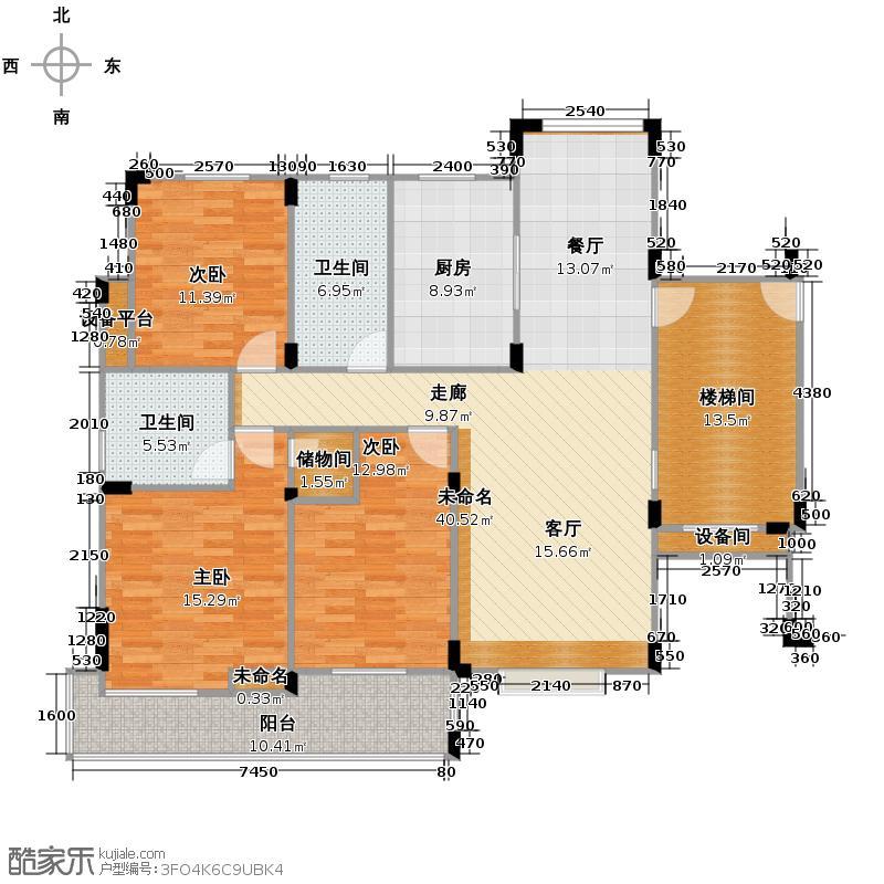 潮都华庭125.00㎡B3户型10室