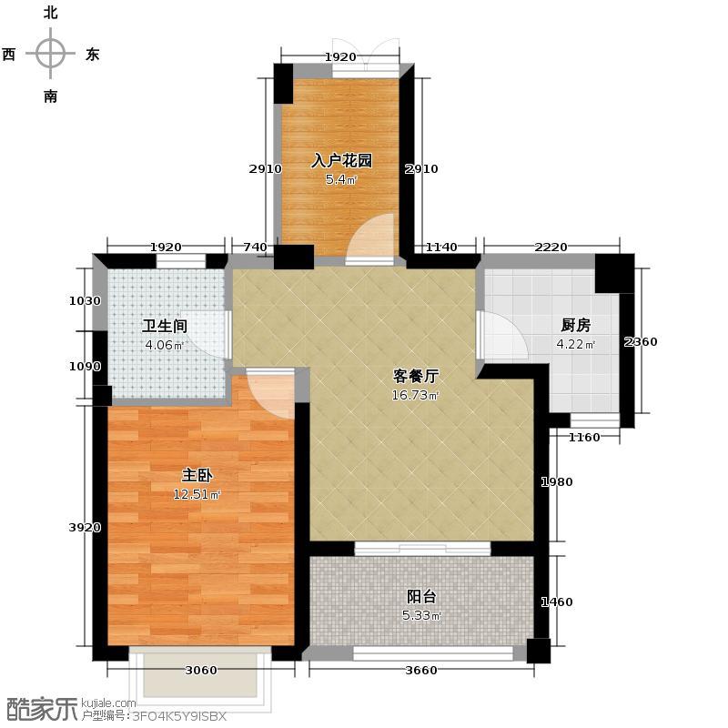 罗源湾滨海新城63.00㎡户型1室2厅1卫