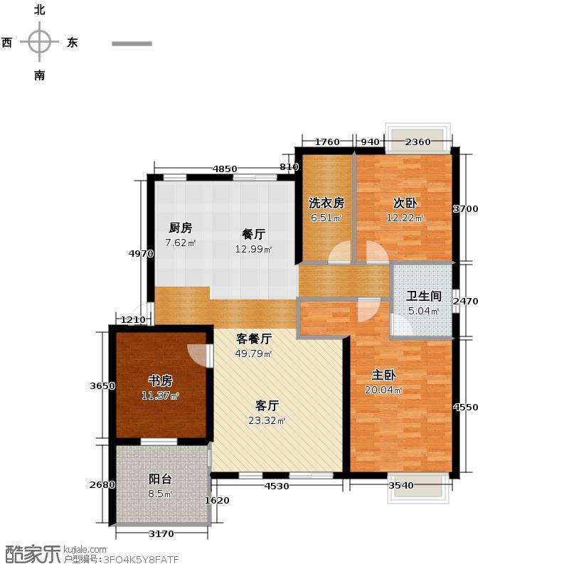 星星港湾112.00㎡十二岛户型3室2厅2卫